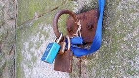Hanging locks stock images
