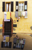 Hanging loundry - seen in Tuscany. Tuscany, Italy Stock Image
