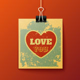 Hanging Love You Retro Card Stock Images
