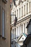 Hanging Man Sculpture In Prague Royalty Free Stock Photography