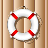 Hanging marine buoy Royalty Free Stock Photography