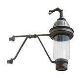 Hanging medieval gas lantern cutout Royalty Free Stock Images