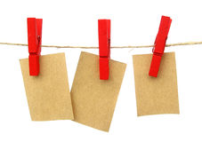 Hanging messages notes Stock Image