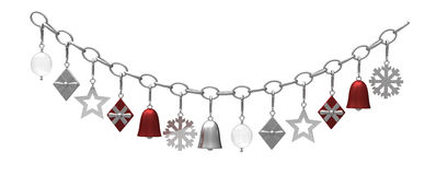 Hanging metal christmas decoration Royalty Free Stock Images