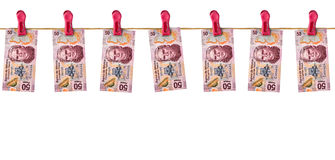 Hanging Mexican Money Stock Images