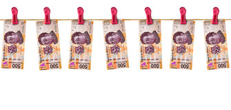 Hanging Mexican Money Royalty Free Stock Photo