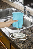 Hanging Microfiber Dish Towel for Drying Royalty Free Stock Images