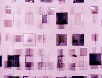 Hanging mirrored squares Royalty Free Stock Image