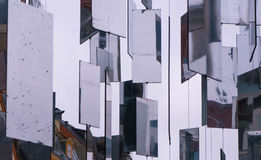 Hanging mirrors in the city Royalty Free Stock Photo