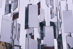 Hanging mirrors in the city Stock Photos
