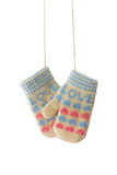 Hanging mittens Stock Images