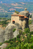 Hanging monastery at Meteora in Greece stock image