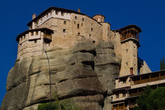 Hanging monastery at Meteora of Kalampaka in Greece. The Meteora Stock Images