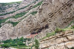 Hanging monastery Royalty Free Stock Photography