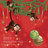 Hanging monkey Royalty Free Stock Photos