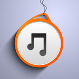 Hanging musical notes concept. Stock Images