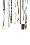 Hanging necklaces Stock Photography
