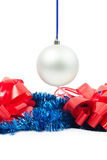 Hanging New Year's toy Royalty Free Stock Images