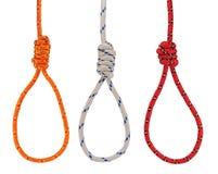 Hanging nooses royalty free stock image