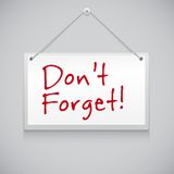 Hanging note board Royalty Free Stock Photos