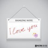 Hanging note board Stock Image