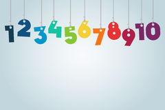 Hanging Numbers royalty free illustration
