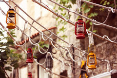 Hanging oil lamps Royalty Free Stock Photos