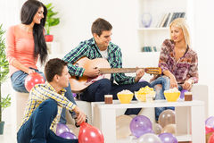 Hanging Out With Guitar Royalty Free Stock Images