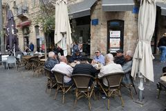 Hanging out in Jerusalem Royalty Free Stock Photography