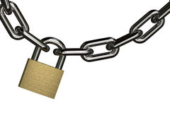 Hanging padlock Royalty Free Stock Images