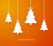 Hanging paper Christmas tree ornaments. Vector illustration vector illustration