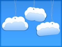 Hanging paper clouds Stock Photography