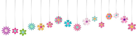 Hanging paper flowers Royalty Free Stock Photos