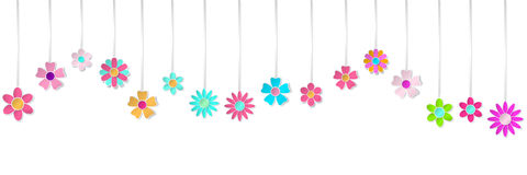 Hanging paper flowers Royalty Free Stock Photo