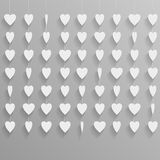 Hanging paper hearts Royalty Free Stock Image