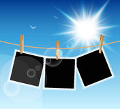 Hanging Pictures Royalty Free Stock Photography