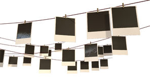 Hanging Polaroid Gallery Royalty Free Stock Images