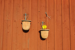 Hanging pots Royalty Free Stock Photo