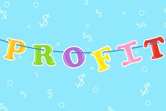 Hanging Profit Royalty Free Stock Photo