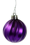 Hanging Purple Christmas Ornament Stock Image