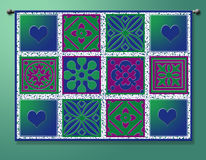 Hanging Quilt Print Royalty Free Stock Photos