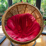 Hanging rattan chair Royalty Free Stock Image