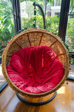 Hanging rattan chair Royalty Free Stock Images