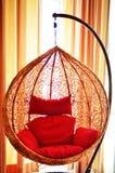 Hanging rattan chair Stock Image