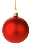 Hanging Red Christmas Baubles Stock Images