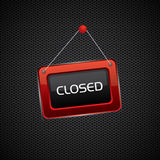 Hanging red closed sign Royalty Free Stock Photos