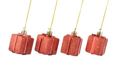 Hanging red gift box Royalty Free Stock Photography