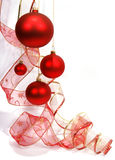 Hanging red glass balls Stock Images