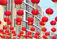 Hanging red lanterns Stock Image