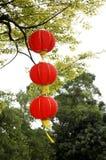 Hanging red lanterns Royalty Free Stock Photo